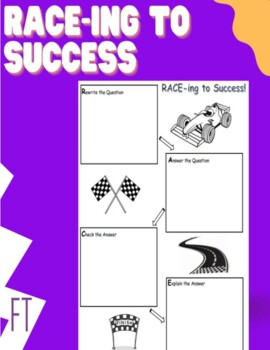 RACE Strategy & Graphic Organizer for Constructed Responses in Mathematics