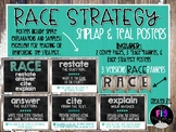RACE Strategy Posters- Shiplap & Teal