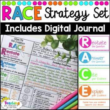 RACE Strategy Set: Bookmarks, Graphic Organizer, Bulletin Board, Self Assessment