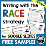 RACE Strategy Writing Activity Google Drive | FREE Distanc