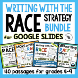 RACE Strategy Writing Passages and Prompts Bundle for Print and Google Slides