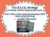 RACE Strategy: Writing Constructed Responses