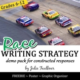 Writing a Paragraph, Constructed Response Strategy, RACE Demo FREEBIE