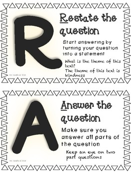RACE Strategy posters (chalkboard)
