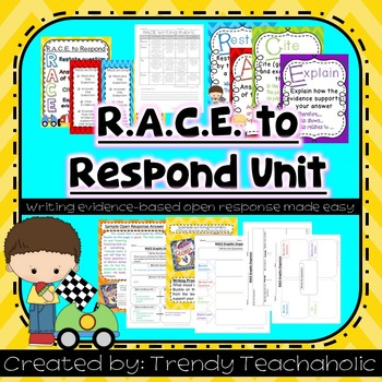 RACE UNIT CCSS Evidence-Based Open Response (graphic organizers, poster, rubric)
