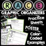RACE WRITING STRATEGY- GRAPHIC ORGANIZERS, EXAMPLES, PRACTICE SHEETS, POSTERS