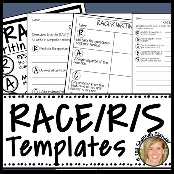 RACES WRITING STRATEGY GRAPHIC ORGANIZER INTERACTIVE NOTEBOOK PRACTICE TEMPLATES