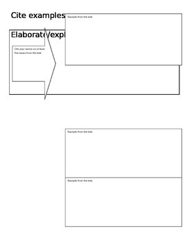 RACE Writing Prompt Graphic Organizer