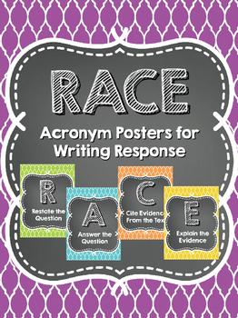 RACE Writing Response Acronym Posters