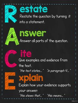 RACE Writing Response Poster