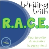 RACE Writing Response Strategy *EDITABLE* PowerPoint & Guided Notes Page