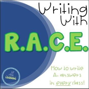 RACE Writing Response Strategy - PowerPoint and Guided Not
