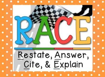 RACE: Writing Short Answer Responses (editable)