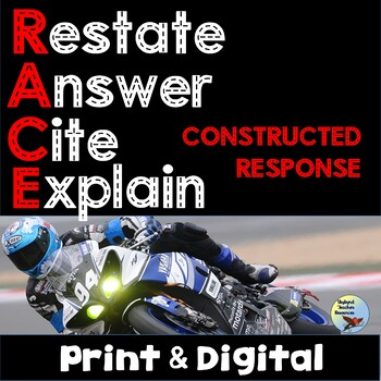 Test Prep RACE Writing Short Constructed Response Graphic