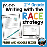 RACE Writing Strategy 2nd Grade FREE PREVIEW Digital and P