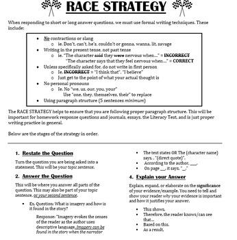 RACE Writing Strategy