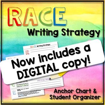 RACE Writing Strategy- Anchor Chart & Student Organizer