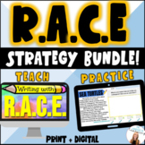 RACE Strategy BUNDLE! 12 Teaching Slides + 6 Practice Activities - ELA Test Prep