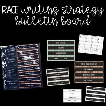 RACE Writing Strategy Bulletin Board