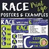RACE Writing Strategy Posters, Bulletin Board, Anchor Char