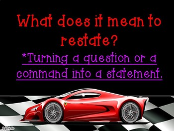 RACE Writing Strategy Constructed Response Presentation and Printables Pack