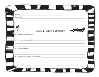 RACE Writing Strategy Graphic Organizer