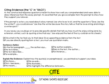 R.A.C.E WRITING STRATEGY ELA TEST PREP FOR TEACHERS AND STUDENTS
