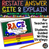 R.A.C.E. Writing Strategy, Bloom's Taxonomy Questions, for Test Prep