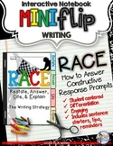 R.A.C.E WRITING STRATEGY ELA TEST PREP MINI FLIP