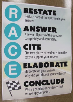 RACE Writing Strategy Poster