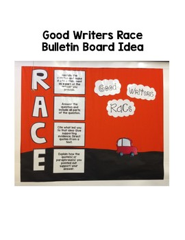 RACE Writing Strategy Posters