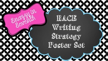 RACE Writing Strategy Posters -- Chalkboard/Black and White