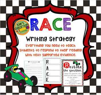 RACE Writing Strategy Set with Interactive Notebook Page