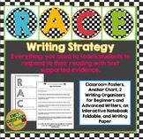 RACE Writing Strategy Set with Interactive Notebook Page- Bright Bulletin Board