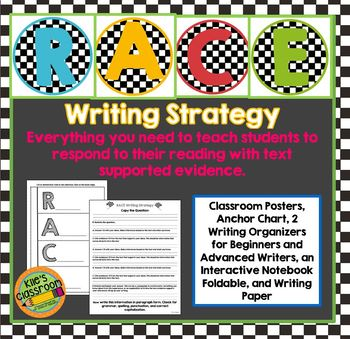 RACE Writing Strategy Set with Interactive Notebook Page-