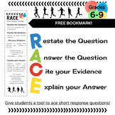 RACE Writing Strategy: Student Bookmark FREEBIE