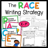 RACE Writing Strategy for Text Dependent Questions K-1st Grade