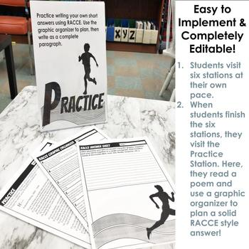 RACE (or RACCE) Short Answer Writing Stations for Grades 5-9