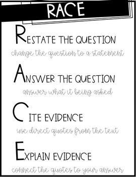RACE test taking strategy