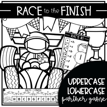 RACE to the FINISH {Alphabet Game to Teach Uppercase Lowercase Matching}