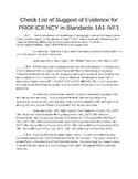 Massachusetts SEEDS Proficiency Portfolio Checklist