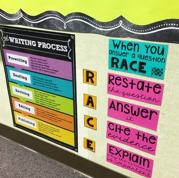 RACE writing strategy display