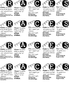 race writing strategy Races: a writing strategy 1 restate the question i think or i believe 2 answer the question i think eause i believe eause.