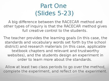 RACECAR Inquiry Method