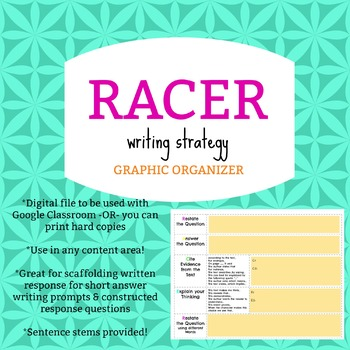 RACER Digital Graphic Organizer