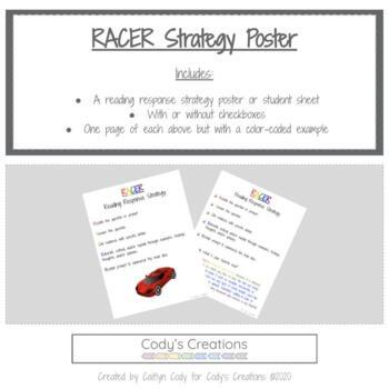 RACER Reading Response Strategy