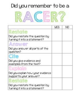 RACER Short Response Question