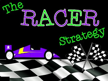 RACER Writing Strategy Constructed Response Classroom Display Poster Set