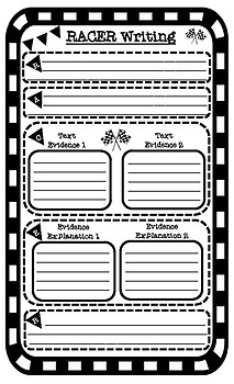 RACER Writing Strategy Constructed Response Graphic Organizer