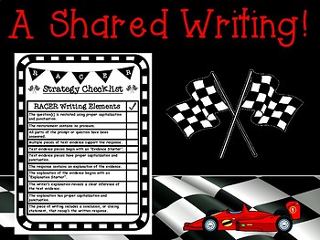 RACER Writing Strategy Constructed Response Presentation and Printables Pack